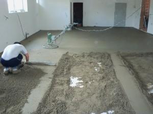 ukázka pokládky betonové podlahy