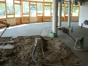 pokládka betonové podlay